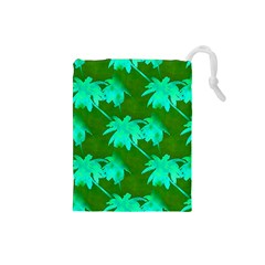 Palm Trees Island Jungle Drawstring Pouches (small)