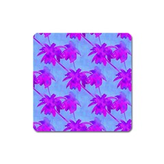 Palm Trees Caribbean Evening Square Magnet