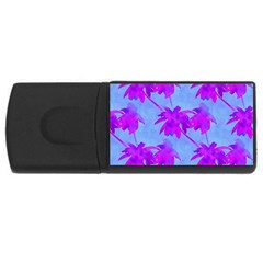 Palm Trees Caribbean Evening Rectangular Usb Flash Drive