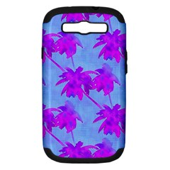 Palm Trees Caribbean Evening Samsung Galaxy S Iii Hardshell Case (pc+silicone)