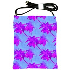 Palm Trees Caribbean Evening Shoulder Sling Bags