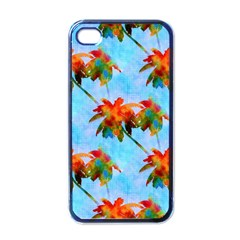 Palm Trees Sunset Glow Apple Iphone 4 Case (black)
