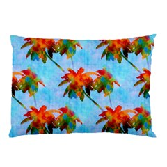 Palm Trees Sunset Glow Pillow Case (two Sides)
