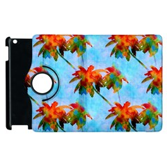 Palm Trees Sunset Glow Apple Ipad 2 Flip 360 Case