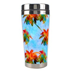 Palm Trees Sunset Glow Stainless Steel Travel Tumblers