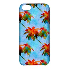 Palm Trees Sunset Glow Apple Iphone 5c Hardshell Case