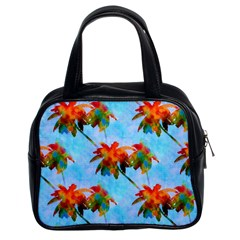 Palm Trees Sunset Glow Classic Handbags (2 Sides) by CrypticFragmentsColors
