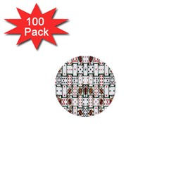 Cards 1  Mini Buttons (100 Pack)
