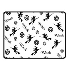Witches And Pentacles Double Sided Fleece Blanket (small)