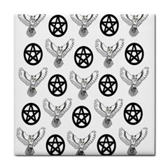 Owls And Pentacles Face Towel by IIPhotographyAndDesigns