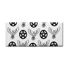 Owls And Pentacles Hand Towel by IIPhotographyAndDesigns