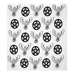 Owls And Pentacles Shower Curtain 66  X 72  (large)  by IIPhotographyAndDesigns