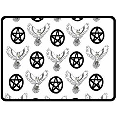 Owls And Pentacles Fleece Blanket (large)  by IIPhotographyAndDesigns