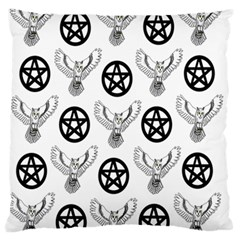 Owls And Pentacles Standard Flano Cushion Case (one Side) by IIPhotographyAndDesigns