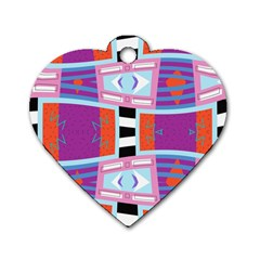 Mirrored Distorted Shapes                                    Dog Tag Heart (one Side)