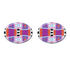 Mirrored Distorted Shapes                                    Cufflinks (oval)