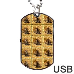 Ship Dog Tag Usb Flash (one Side)