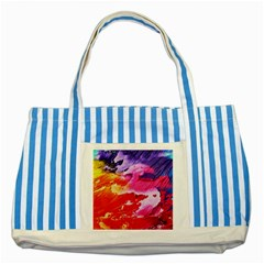Red Purple Paint                                     Striped Blue Tote Bag