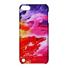 Red Purple Paint                               Apple Iphone 5 Hardshell Case With Stand by LalyLauraFLM