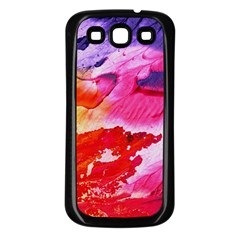 Red Purple Paint                               Samsung Galaxy S3 Back Case (white)