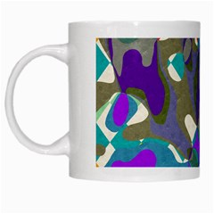Blue Purple Shapes                                      White Mug
