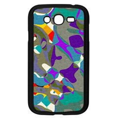 Blue Purple Shapes                                Samsung Galaxy S4 I9500/ I9505 Case (black)