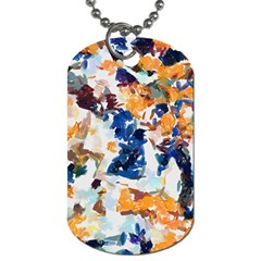 Paint On A White Background                                       Dog Tag (one Side) by LalyLauraFLM