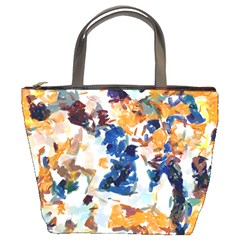 Paint On A White Background                                  Bucket Bag