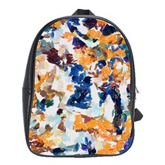 Paint On A White Background                                       School Bag (large)