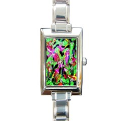 Spring Ornaments 2 Rectangle Italian Charm Watch