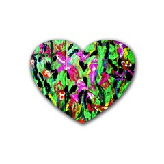 Spring Ornaments 2 Rubber Coaster (heart)