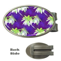 Palm Trees Hot Summer Nights Money Clips (oval)  by CrypticFragmentsColors