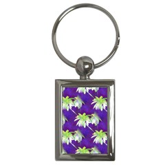 Palm Trees Hot Summer Nights Key Chains (rectangle)