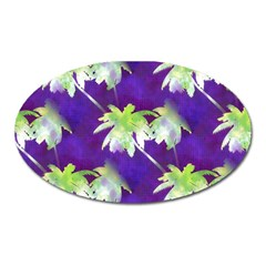Palm Trees Hot Summer Nights Oval Magnet