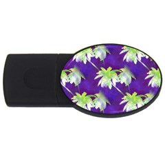 Palm Trees Hot Summer Nights Usb Flash Drive Oval (4 Gb)