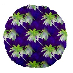 Palm Trees Hot Summer Nights Large 18  Premium Flano Round Cushions