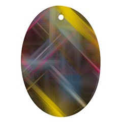 Fractals Stripes                                        Ornament (oval)