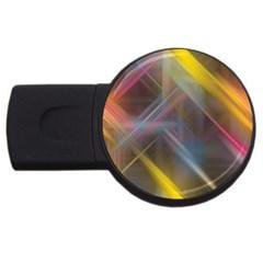 Fractals Stripes                                        Usb Flash Drive Round (4 Gb)