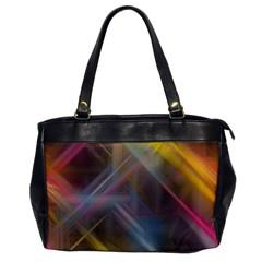 Fractals Stripes                                        Oversize Office Handbag