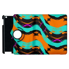 Blue Orange Black Waves                                   Samsung Galaxy S Iii Classic Hardshell Case (pc+silicone) by LalyLauraFLM