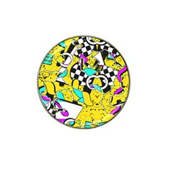 Shapes On A Yellow Background                                         Hat Clip Ball Marker