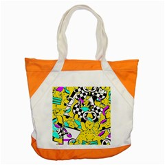 Shapes On A Yellow Background                                         Accent Tote Bag