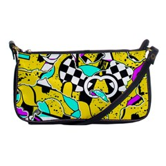 Shapes On A Yellow Background                                         Shoulder Clutch Bag