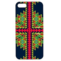 Distorted Shapes On A Blue Background                                 Apple Iphone 4/4s Hardshell Case With Stand