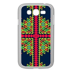 Distorted Shapes On A Blue Background                                 Samsung Galaxy S4 I9500/ I9505 Case (white)