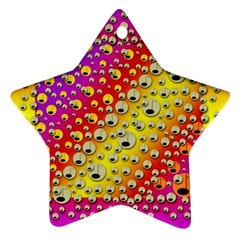 Festive Music Tribute In Rainbows Ornament (star)