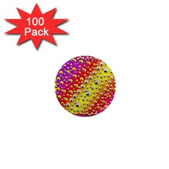 Festive Music Tribute In Rainbows 1  Mini Magnets (100 Pack)
