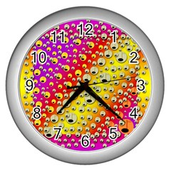 Festive Music Tribute In Rainbows Wall Clock (silver)