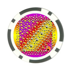 Festive Music Tribute In Rainbows Poker Chip Card Guard (10 Pack)