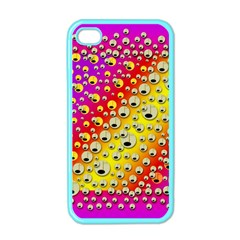 Festive Music Tribute In Rainbows Apple Iphone 4 Case (color) by pepitasart